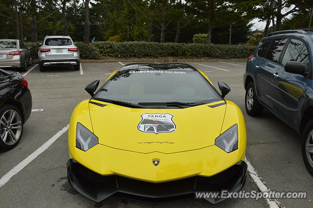 Lamborghini Aventador spotted in Pebble Beach, California