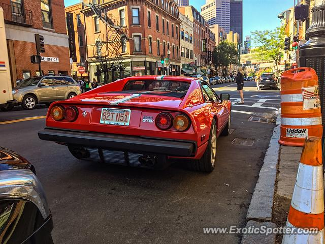 Ferrari 308 spotted in Boston, Massachusetts
