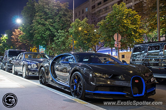 Bugatti Chiron spotted in Paris, France