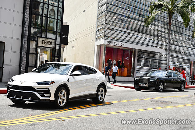 Lamborghini Urus spotted in Beverly Hills, California