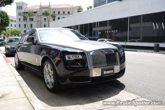 Rolls-Royce Ghost spotted in Beverly Hills, California