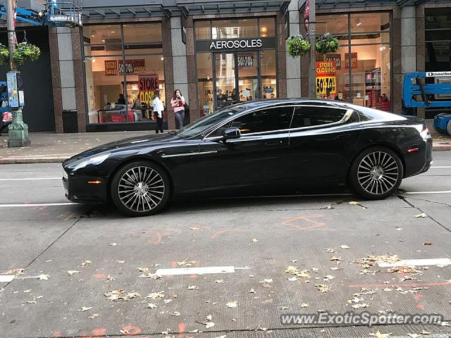 Aston Martin Rapide spotted in Seattle, Washington