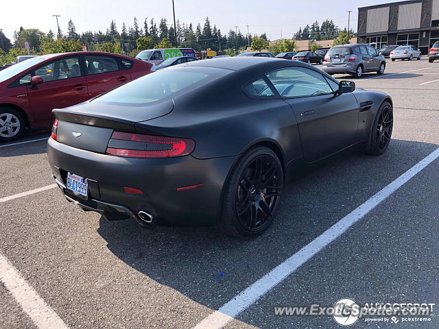 Aston Martin Vantage spotted in Shoreline, Washington