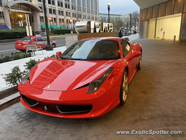 Ferrari 458 Italia spotted in Washington DC, United States
