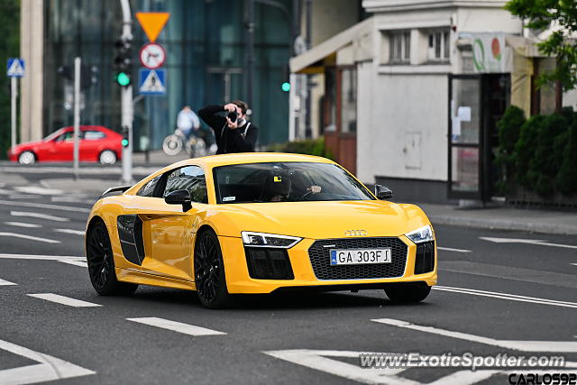 Audi R8 spotted in Warsaw, Poland