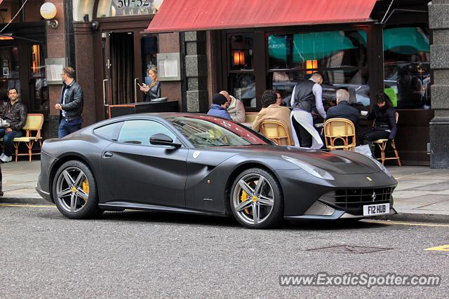 Ferrari F12 spotted in London, United States