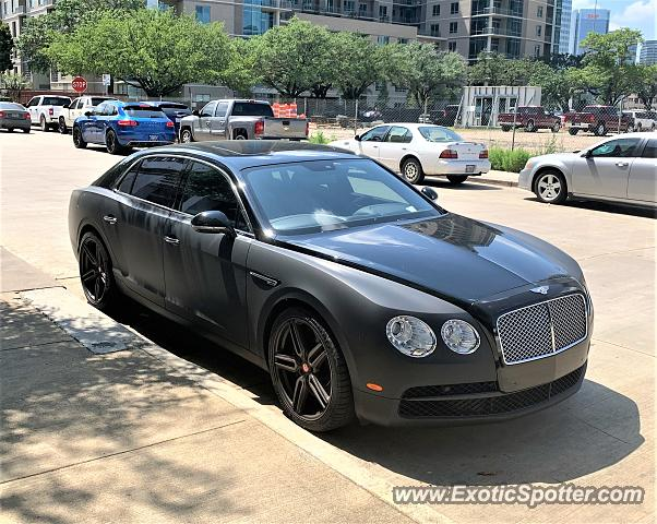 Bentley Flying Spur spotted in Houston, Texas