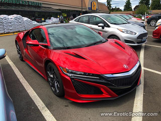 Acura NSX spotted in Edmonds, Washington