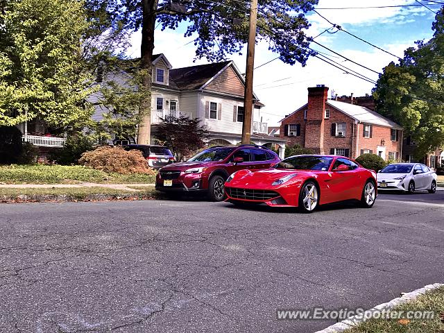 Ferrari F12 spotted in Westfield, New Jersey