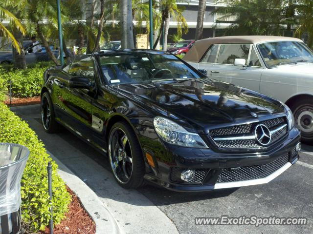 Mercedes sl 65 amg spotted in aventura florida on 12 23 2010 for Mercedes benz aventura