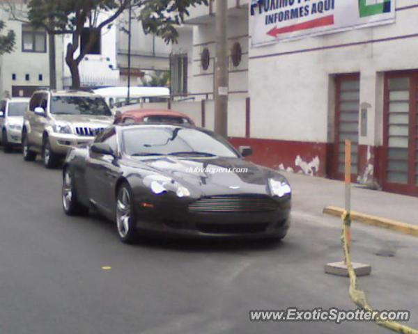 Aston Martin DB9 spotted in Lima, Peru