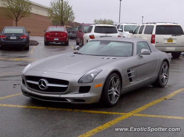 Mercedes sls amg spotted in des moines iowa on 04 18 2011 for Des moines mercedes benz