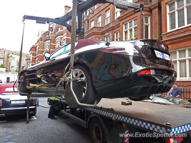 Mercedes SLR spotted in London, United Kingdom