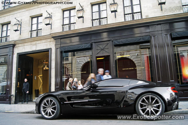 Aston Martin One-77 spotted in Paris, France