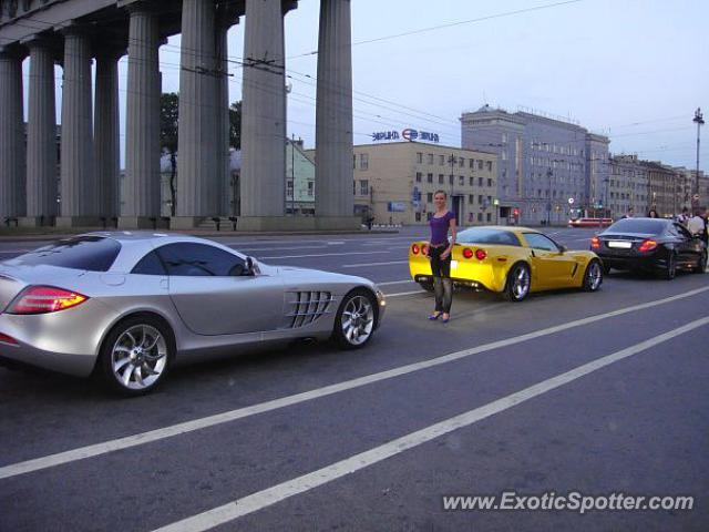 Mercedes slr spotted in saint petersburg russia on 10 08 2011 for Mercedes benz st petersburg