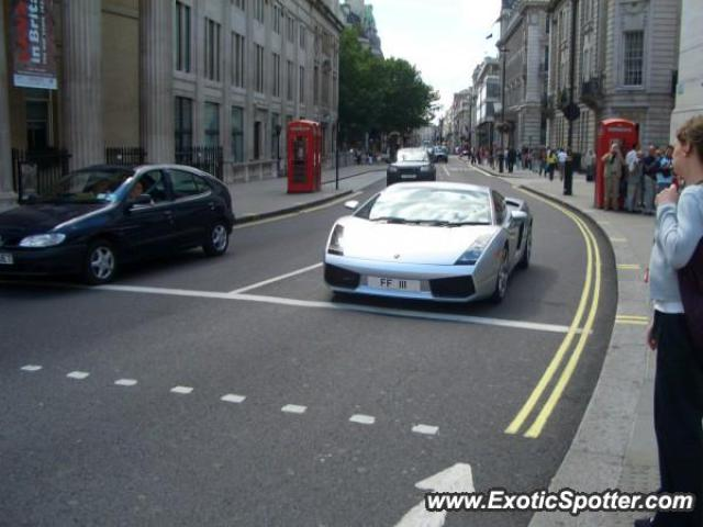 Lamborghini Gallardo spotted in London, United Kingdom