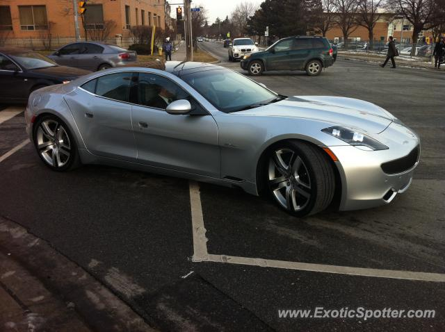 Fisker Karma spotted in North York, Canada