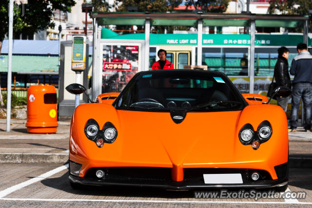 Pagani Zonda spotted in Hong Kong, China