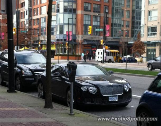 Bentley Continental spotted in Yaletown, Vancouver, BC, Canada
