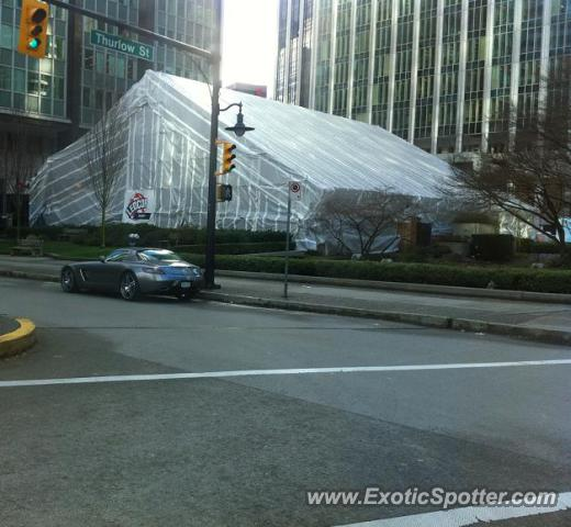 Mercedes SLS AMG spotted in Vancouver BC Canada, Canada