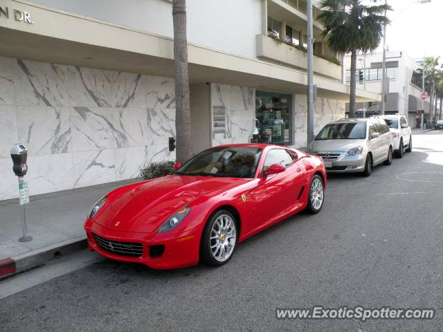 ferrari 599gtb spotted in beverly hills california on 01. Cars Review. Best American Auto & Cars Review