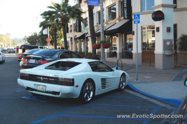 Ferrari Testarossa spotted in La Jolla, California on 04/01/2012