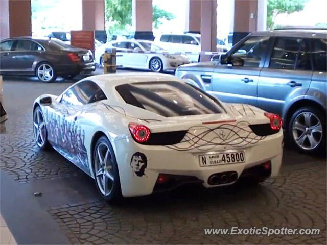 Ferrari 458 Italia spotted in Dubai, United Arab Emirates