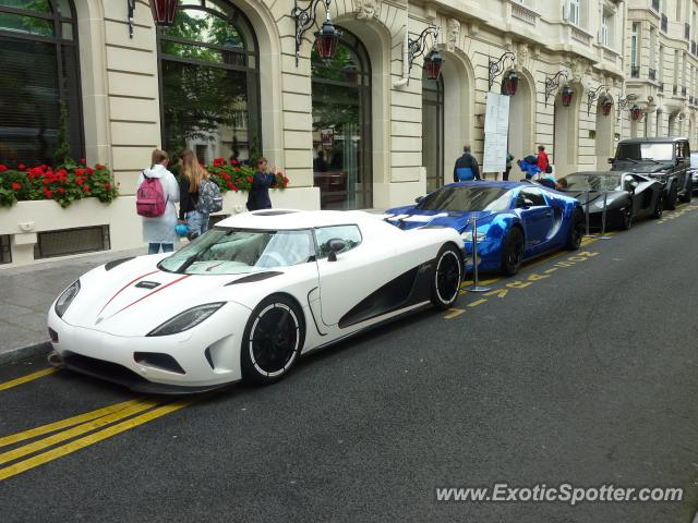 Koenigsegg Agera spotted in Paris, France