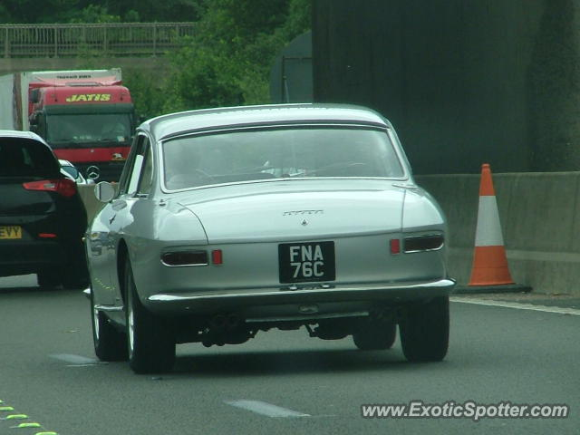 Ferrari 330 GTC spotted in M6, United Kingdom