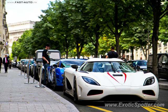 Koenigsegg Agera R spotted in Paris, France