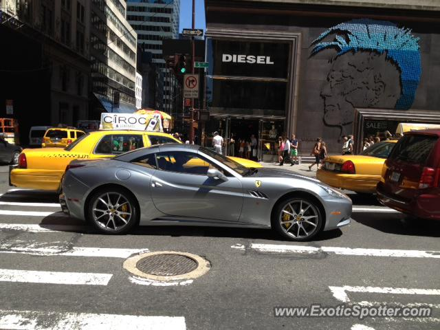 The Continental Nyc >> Ferrari California spotted in New York City, New York on 07/25/2012