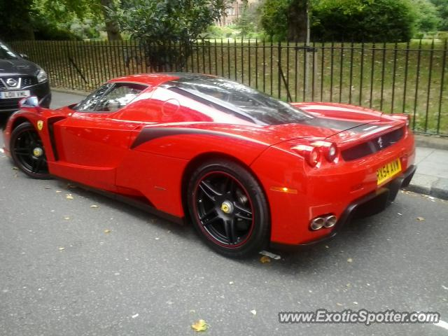 ferrari enzo spotted in london united kingdom - Ferrari Enzo Black Rims