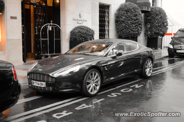aston martin rapide spotted in paris france on 09 02 2012. Black Bedroom Furniture Sets. Home Design Ideas
