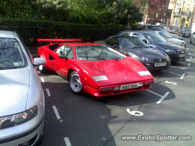 Lamborghini Countach spotted in London, United Kingdom