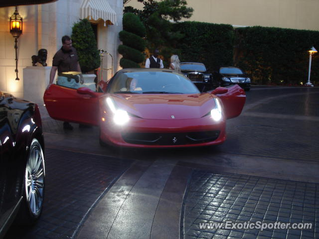 Ferrari 458 Italia spotted in Las Vegas, Nevada on 05/17/2012