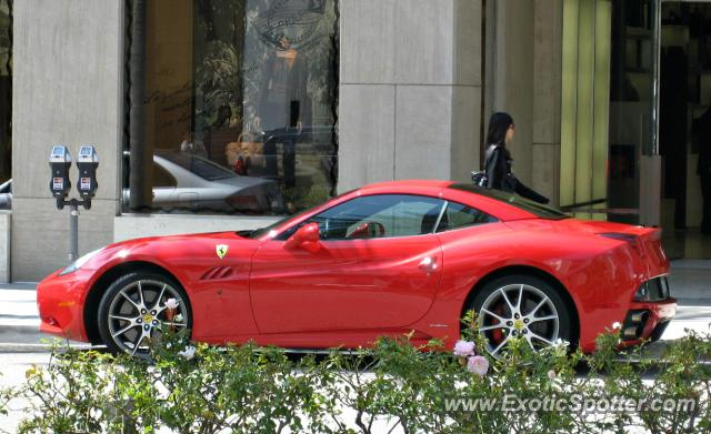 ferrari california spotted in beverly hills california on. Cars Review. Best American Auto & Cars Review