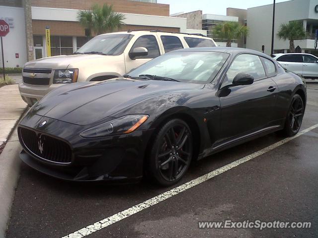 Maserati GranTurismo spotted in Tampa, Florida on 09/06/2012