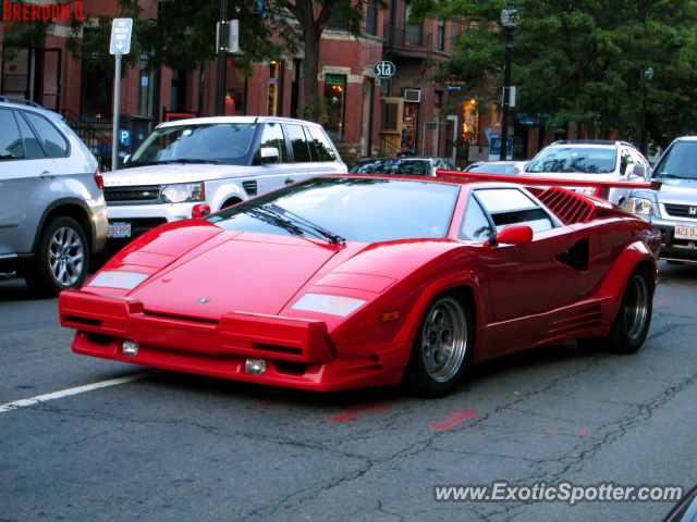 Lamborghini Countach spotted in Boston, Massachusetts