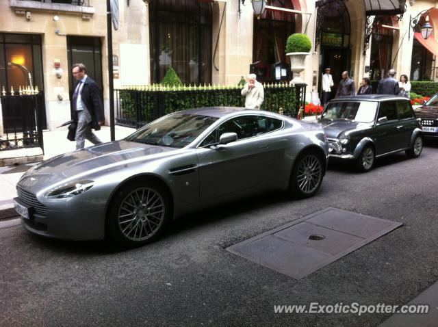aston martin db9 spotted in paris france on 10 02 2012. Black Bedroom Furniture Sets. Home Design Ideas