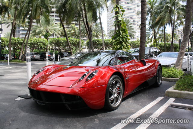 Pagani Huayra spotted in Miami, Florida