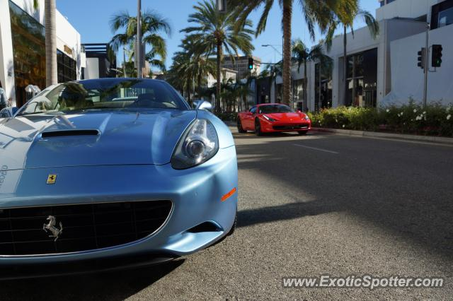 Ferrari 458 Italia spotted in Beverly Hills, California