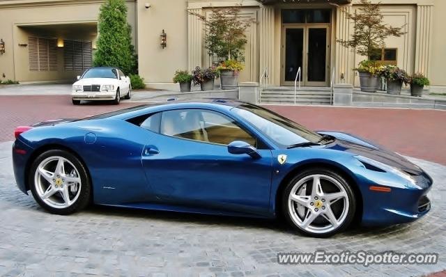 ferrari 458 italia spotted in atlanta georgia - Ferrari 458 Italia Blue