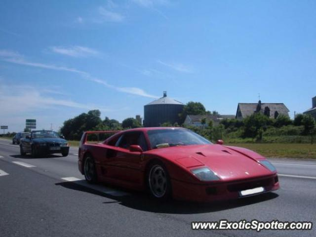 Ferrari F40 spotted in Sées, France