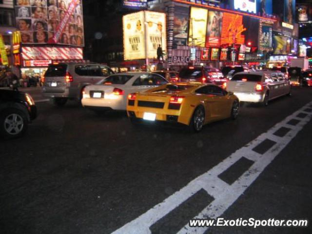 Lamborghini Gallardo Spotted In New York City New York On