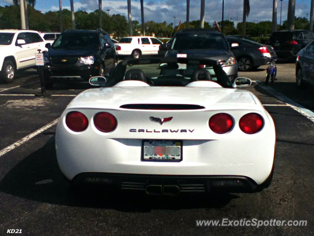 Callaway Z06 spotted in Boca Raton, Florida
