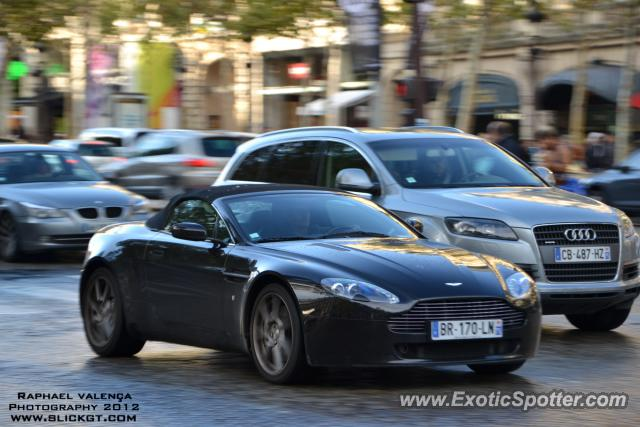 aston martin vantage spotted in paris france on 10 13 2012. Black Bedroom Furniture Sets. Home Design Ideas