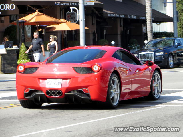 ferrari 458 italia spotted in beverly hills california on 11 03 2012 photo 2. Cars Review. Best American Auto & Cars Review