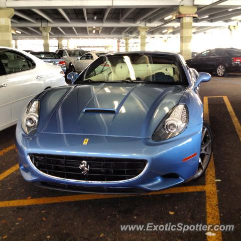 Ferrari California spotted in Boca raton, Florida