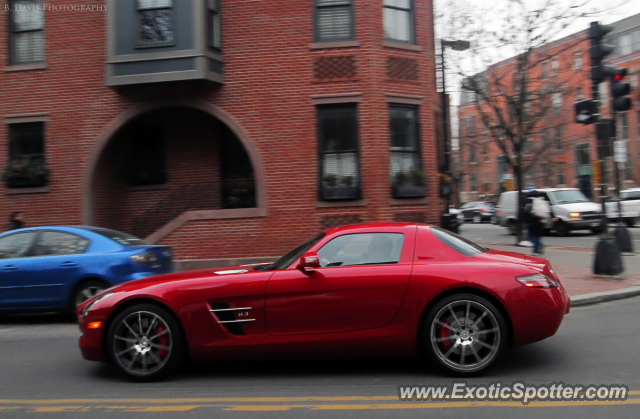 Mercedes SLS AMG spotted in Boston, Massachusetts