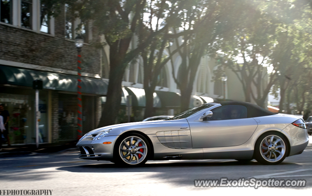 Mercedes SLR spotted in Coconut Grove, Florida